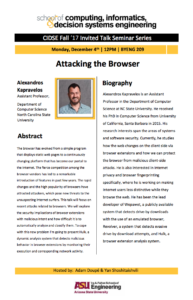 Attacking the Browser talk flier