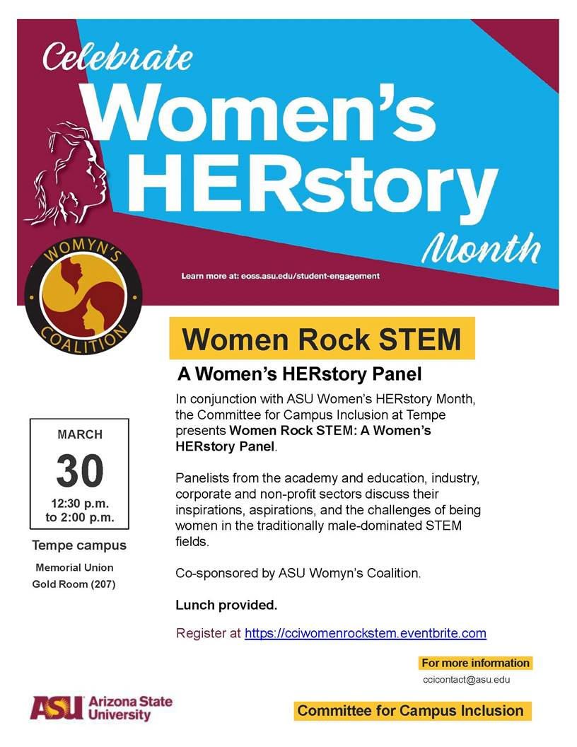 Women Rock STEM panel flier