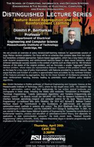 Dimitri P Bertsekas lecture flier