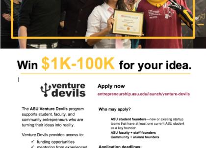 Venture Devils flier