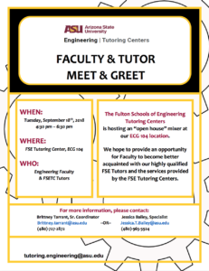 Tutor Meet and Greet flier