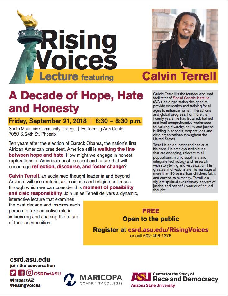 Rising Voices flier