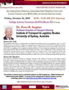 ASU Transportation Seminar flier.