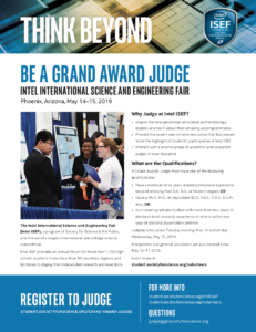 Intel ISEF judging flier.