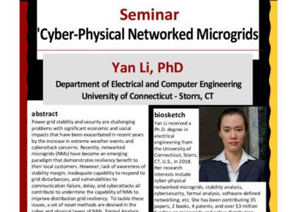 Yan Li guest lecture
