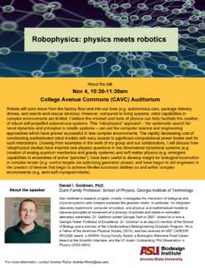 Dan Goldman Robophysics