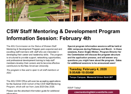 CSE Staff Mentoring and Development Program info session February 2020