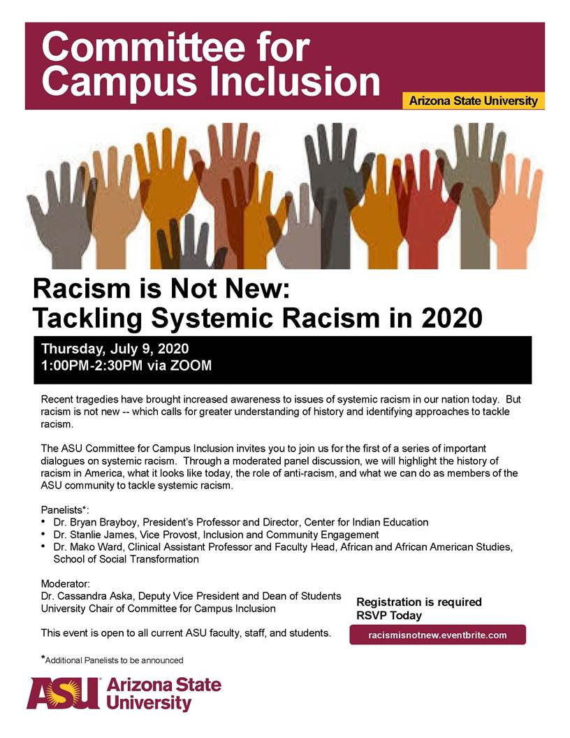 Racism is Not New: Tackling Systemic Racism in 2020, July 9