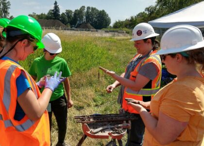 ASU and Portland State University students log retrieved soil samples gathered during soil liquefaction research in Oregon.