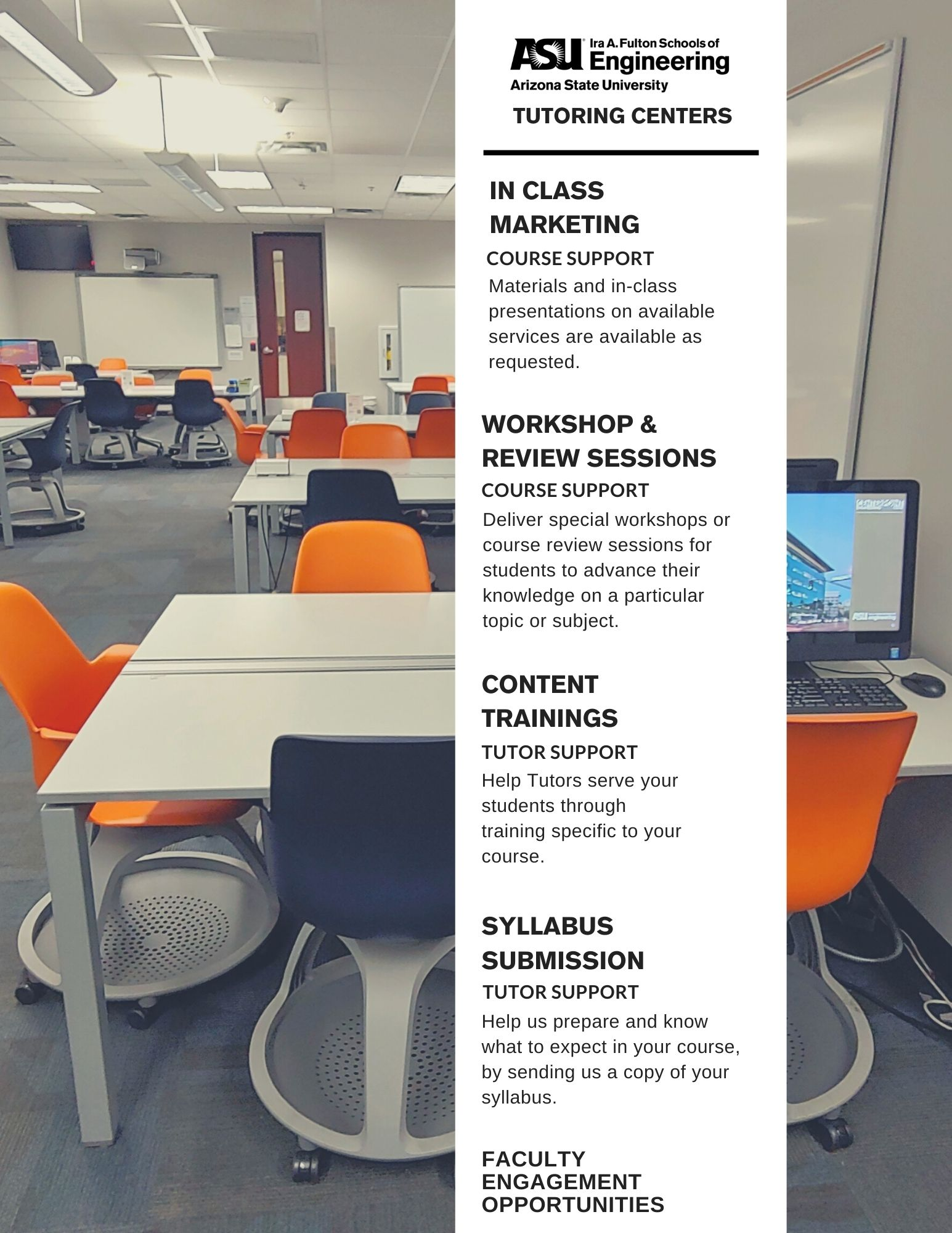 Tutoring Centers Faculty Opportunities