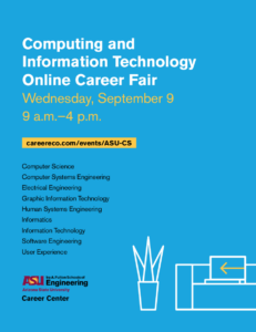Computing and Information Technology Online Career Fair Wednesday, September 9, 2020 9 a.m.–4 p.m.