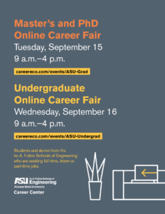 Fulton Schools Fall 2020 Online Career Fairs