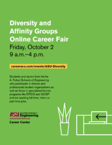 Diversity and Affinity Groups Online Career Fair Friday, October 2, 2020 9 a.m.–4 p.m.