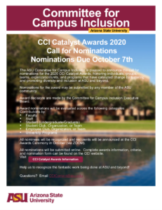 Committee for Campus Inclusion Catalyst Awards 2020