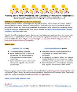 2021 ASU Social Embeddedness Network Conference call for proposals