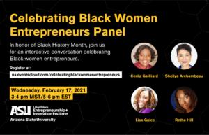 Panel: Celebrating Black Women Entrepreneurs, February 17