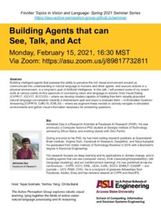 Building Agents that can See, Talk and Act flyer