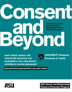 Consent and Beyond - ASU Sexual Assault Awareness Month