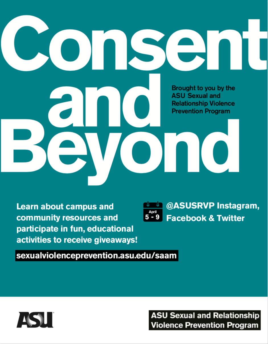 Consent and Beyond - ASU Sexual Assault Awareness Month