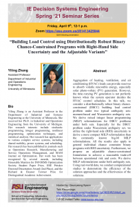 Yiling Wang IE Decision Systems Engineering seminar