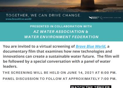 Brave Blue World screening flyer