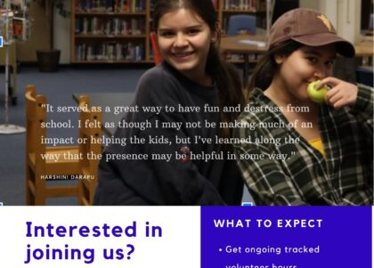 Volunteer mentor program for middle school outreach