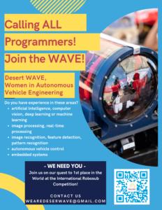 DesertWAVE programmer recruiting flyer