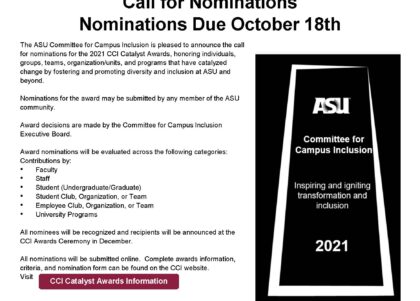 CCI Catalyst awards 2021